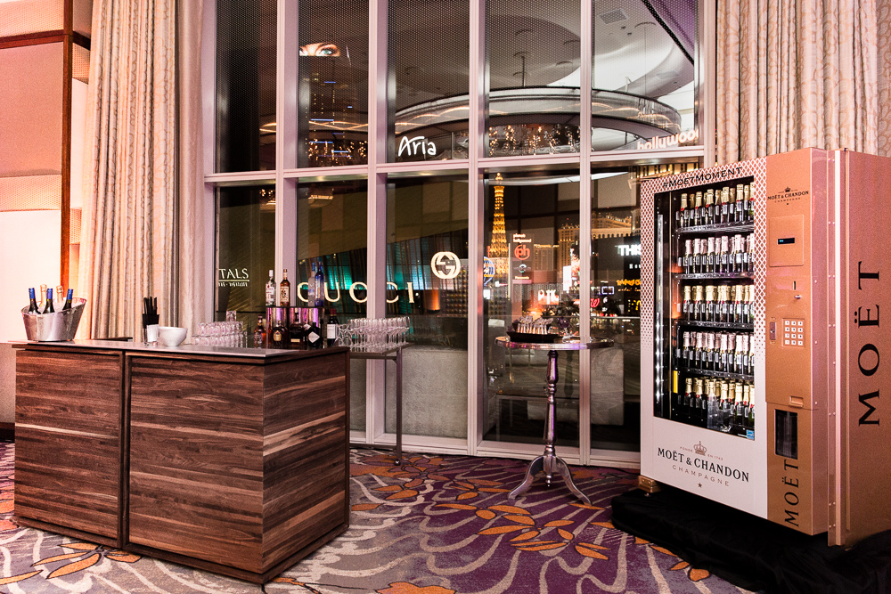 Las Vegas event photography with Moet at Mandarin Oriental